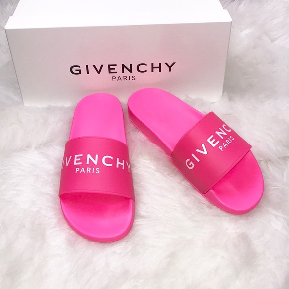 7d54057d22c1 Givenchy Neon Fuchsia Slides (Exclusive)